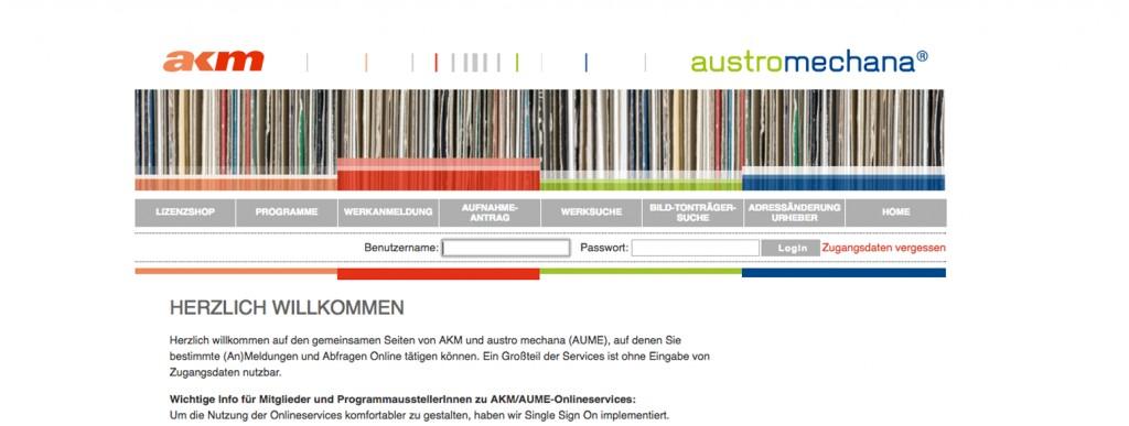 Wichtige Info für Mitglieder und ProgrammausstellerInnen zu AKM/AUME-Onlineservices